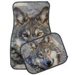 Gray Wolf Dignity Car Mat