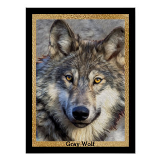 Gray Wolf Dignity Poster