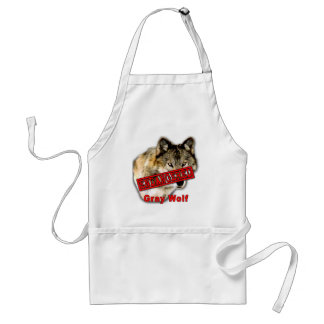 Gray Wolf Endangered Species Products Adult Apron