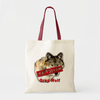 Gray Wolf Endangered Species Products Tote Bag