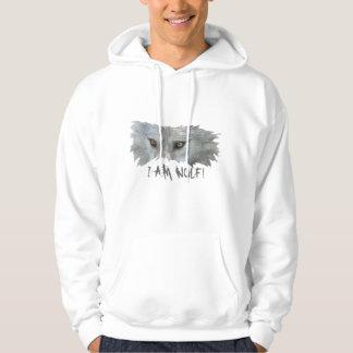 GRAY WOLF EYES Wildlife Hoodie