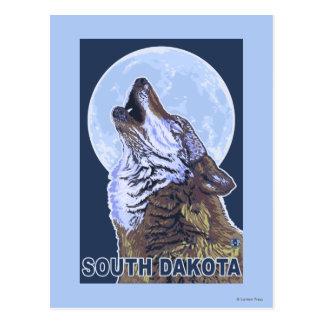 Gray Wolf HowlingSouth Dakota Postcard