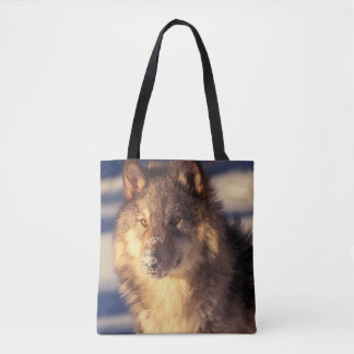 Gray Wolf in Snow Tote Bag