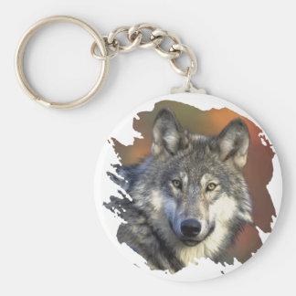 Gray Wolf Keychain