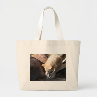 Gray Wolf Large Tote Bag