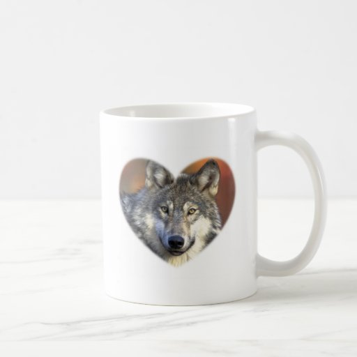 Gray Wolf Coffee Mugs