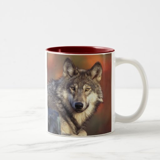 Gray Wolf Mug Coffee Mugs