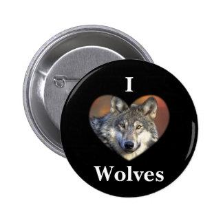 Gray Wolf Pinback Button