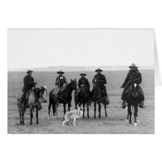 Gray Wolf Roundup, 1887 Card