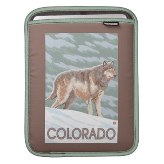 Gray Wolf StandingColorado iPad Sleeve