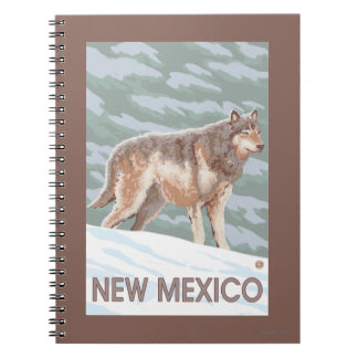 Gray Wolf StandingNew Mexico Spiral Notebooks