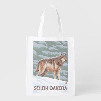 Gray Wolf StandingSouth Dakota Market Totes