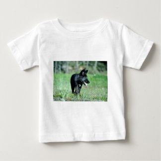 Gray Wolf-summer-(black-phase) cub T-shirts