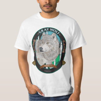 Gray Wolf T-Shirt - On White