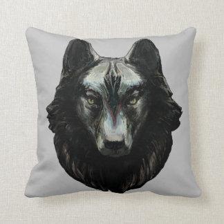 'Gray Wolf' Throw Pillow