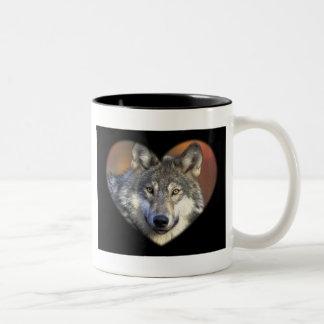Gray Wolf Two-Tone Coffee Mug