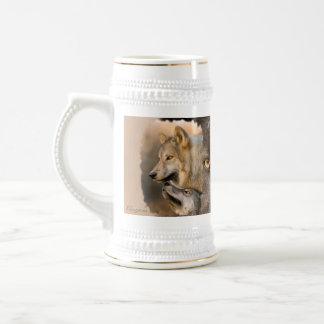 Gray Wolves Beer Stein