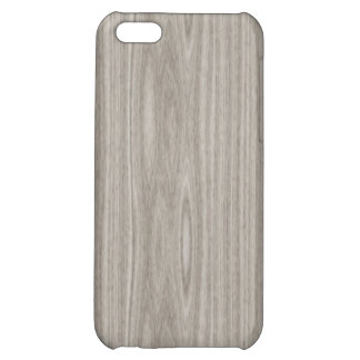 Gray Wood Grain Case For iPhone 5C