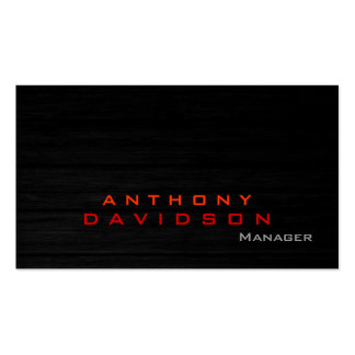 Gray wood pattern orange red trendy business card