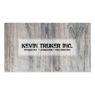 Gray Wood Texture Remodeling Woodwork Design Business Card