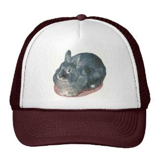 Gray Wooly Rabbit Hats