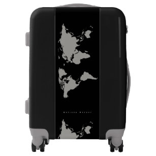 World map luggage suitcases zazzle gray world map travel luggage gumiabroncs Choice Image