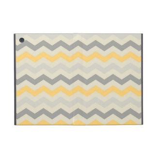 Gray yellow chevron zigzag print zig zag pattern iPad mini case