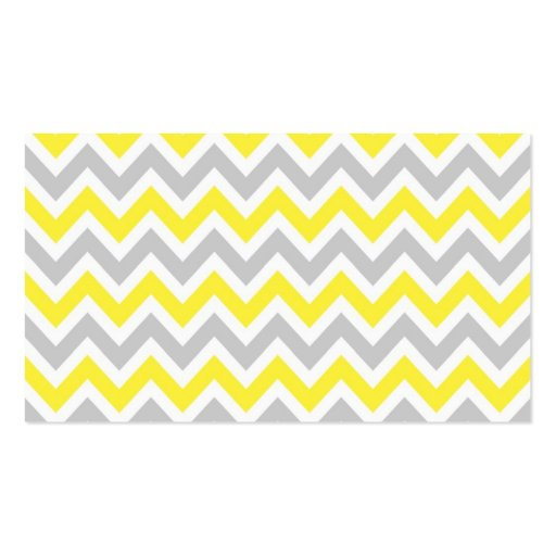 Gray & Yellow Colorful Chevron Stripes Business Card (back side)