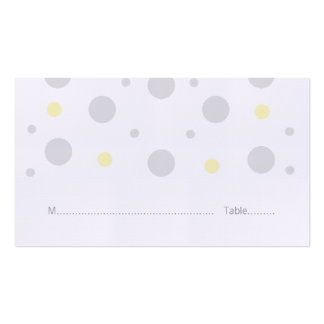 Gray Yellow Confetti Wedding Place Cards Double-Sided Standard Business Cards (Pack Of 100)