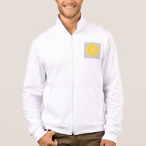 Gray & Yellow Modern Chevron Custom Monogram Jacket