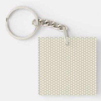 Gray Yellow Purple Honeycomb Keychain