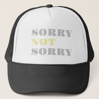 Gray Yellow Sorry Not Sorry Hat