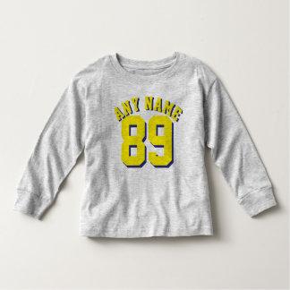 Gray & Yellow Toddler | Sports Football Jersey T-shirt
