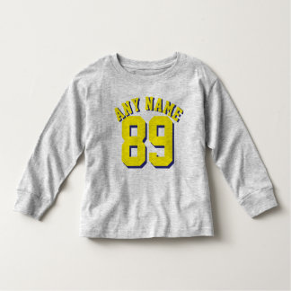 Gray & Yellow Toddler | Sports Football Jersey Toddler T-shirt