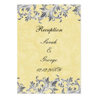 """""""gray yellow"""" wedding Reception Cards Large Business Cards (Pack Of 100)"""