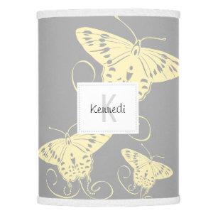 Gray Yellow White Erfly Design Lamp Shade