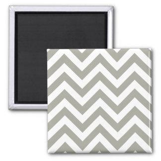 Gray Zig Zag Chevrons Pattern 2 Inch Square Magnet