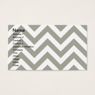 Gray Zig Zag Chevrons Pattern Business Card