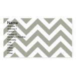 Gray Zig Zag Chevrons Pattern Business Card Templates