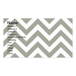 Gray Zig Zag Chevrons Pattern Business Card Templates