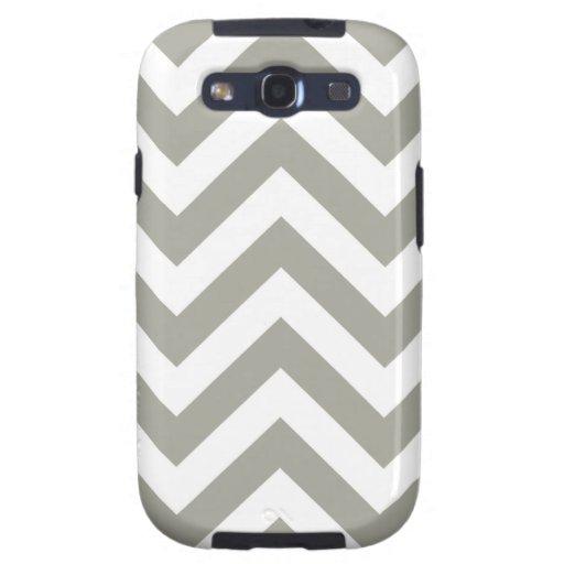 Gray Zig Zag Chevrons Pattern Samsung Galaxy SIII Covers