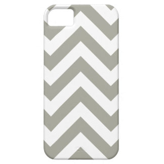 Gray Zig Zag Chevrons Pattern iPhone 5 Case
