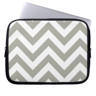 Gray Zig Zag Chevrons Pattern Laptop Sleeve