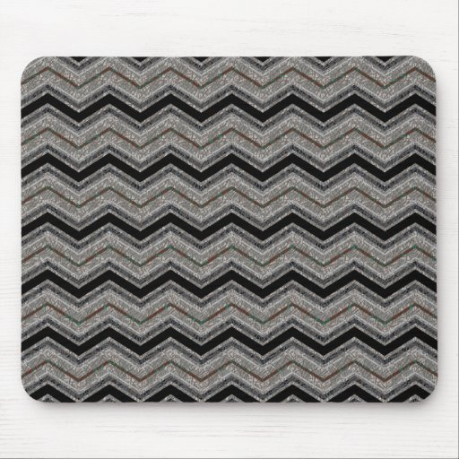 Gray zigzag mouse pad