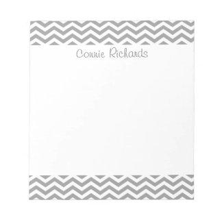Gray zigzag pattern notepad