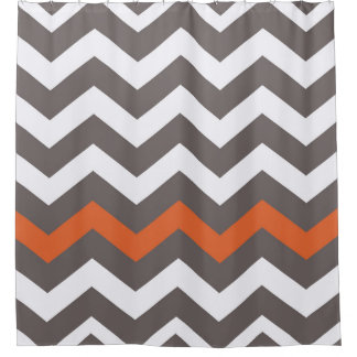 Orange And Grey Shower Curtain Neoteric Design Inspiration Orange