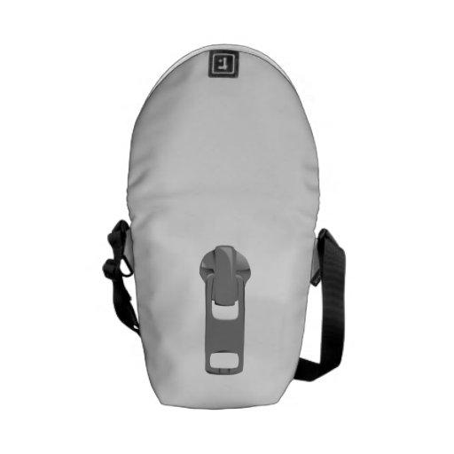 Gray Zipper Messenger Bag