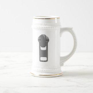Gray Zipper 18 Oz Beer Stein