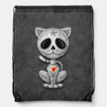 Gray Zombie Sugar Kitten Cat Backpacks