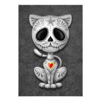Gray Zombie Sugar Kitten Cat Custom Announcements